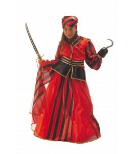 Disfraz de Corsaria Rayas infantil