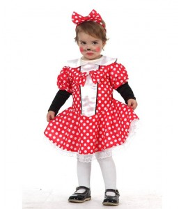 Disfraz de Ratita Minnie Bebe