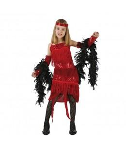 Disfraz de Charleston Rojo Infantil