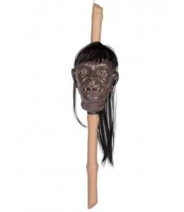 Cabeza Bambu con Pelo