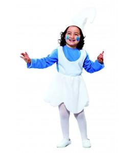 Disfraz de Pitufina Infantil