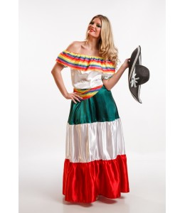 Disfraz de Mejicana Colores