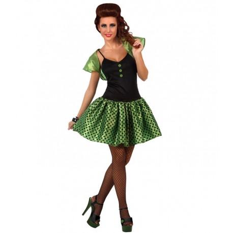 Disfraz de Chica Años 50 Verde