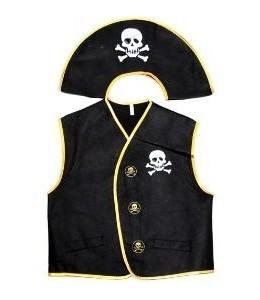 Chaleco y Gorro de Pirata Infantil