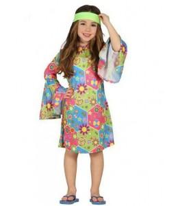 Disfraz de Hippie Flower Chica Infantil