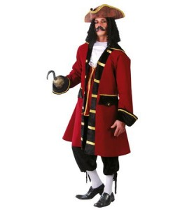Disfraz de Capitan con Garfio