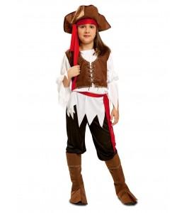 Disfraz de Bucanera Marron Infantil