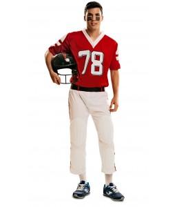 Disfraz de Jugador de Rugby Rojo