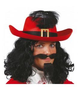 Sombrero Mosquetero Rojo