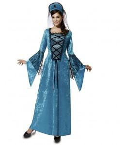 Disfraz de Reina Medieval Azul