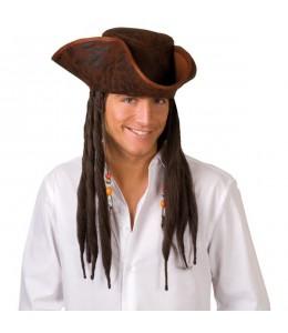 Sombrero Pirata con Rastas