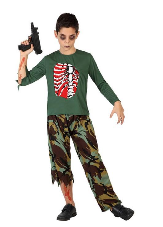 comprar disfraz de zombie militar infantil por solo uac u tienda de disfraces online