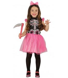 Disfraz de Esqueleto Rosa Infanil