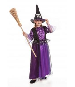 Disfraz de Bruja Morada Infantil