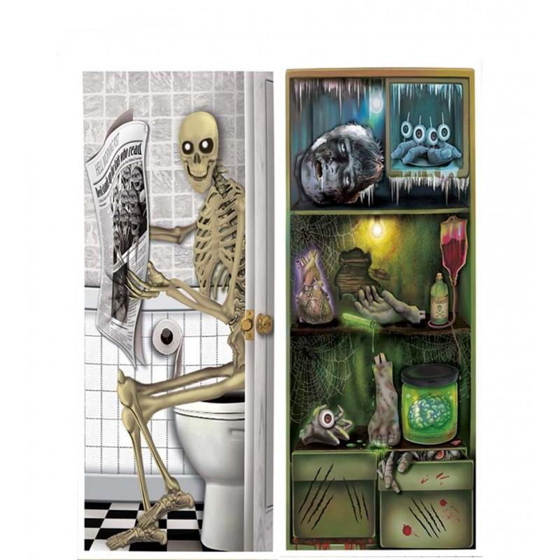 Comprar decoracion de puertas terror por solo - Decoracion de puertas para halloween ...