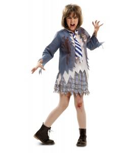 Disfraz de Estudiante Zombie Niña