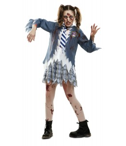 Disfraz de Estudiante Zombie Chica