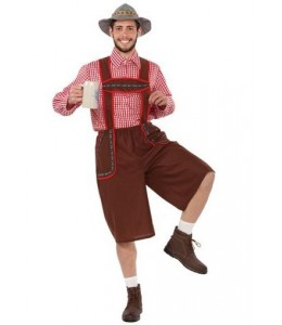 Disfraz de Tiroles Rojo