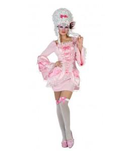 Disfraz de Cortesana Sexy Rosa