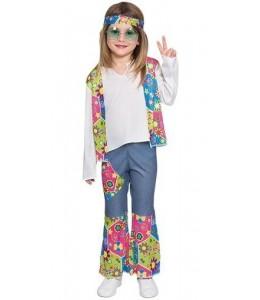 Disfraz de Hippie Peace Niña Bebe