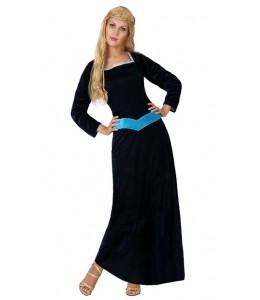 Disfraz de Lady Medieval Azul