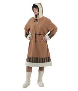 Disfraz de Esquimal Beig Chica