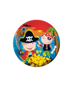 Platos Cumpleaños Tesoro Pirata