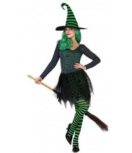 Disfraz de Bruja Verde