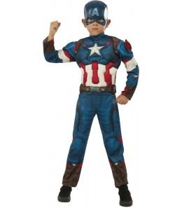 Disfraz de Capitan America Deluxe Infantil