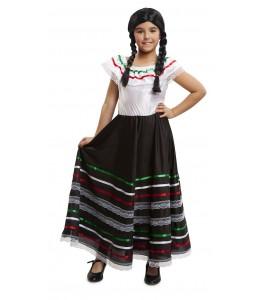 Disfraz de Mejicana Negra Infantil