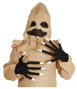 Guantes Negros con Dedos Largos