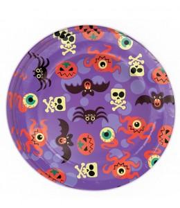 Platos de Halloween Morados