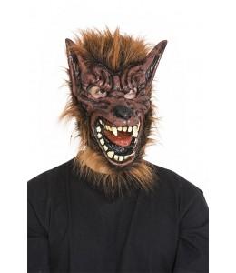 Mascara de Hombre Lobo Marron