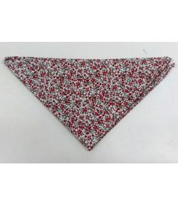Foulard Fleurs Rouge et Gris