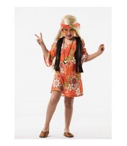 Disfraz de Hippie Naranja Infantil