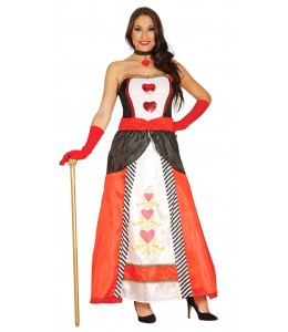 Disfraz de Reina de Corazones Largo
