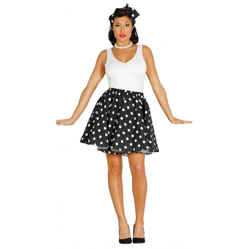 Disfraz de set pin up negro for Disfraces de los anos 60