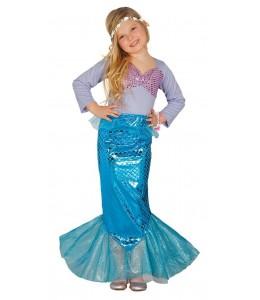Disfraz de Sirena Azul Infantil