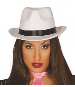 Sombrero Gangster Alta Calidad Blanco