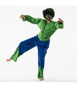 Disfraz de Forzudo Verde Infantil