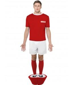 Disfraz de Jugador de Futbolin Rojo