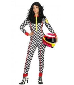 Disfraz de Piloto de Carreras Mujer