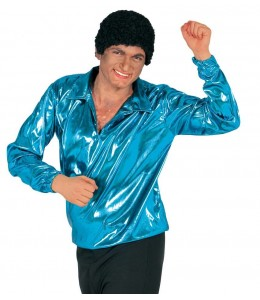 Camisa Disco Azul Turquesa