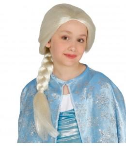 Peluca Princesa de las Nieves Infantil