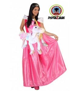 Disfraz de Princesa fucsia unicornio