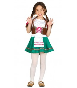 Disfraz de Tirolesa Verde Infantil