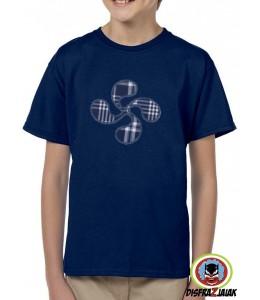 Camiseta Lauburu Azul Infantil