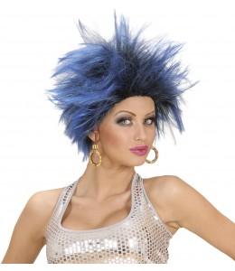Perruque Échevelée Bleu