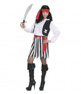 Disfraz de Piratesa Rayas Mujer