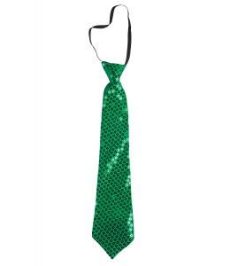 Corbata Lentejuelas Verde